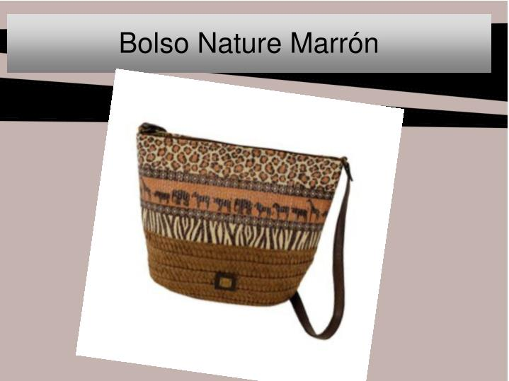 Bolso nature marr n