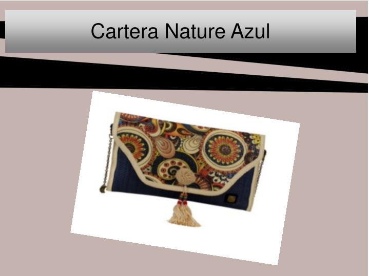 Cartera nature azul