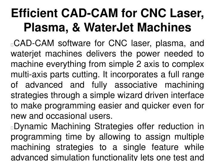 Efficient CAD-CAM for CNC Laser, Plasma, & WaterJet Machines