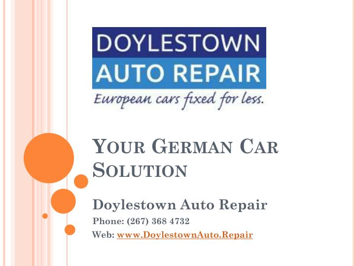 Reed johnson doylestown pa auto repair