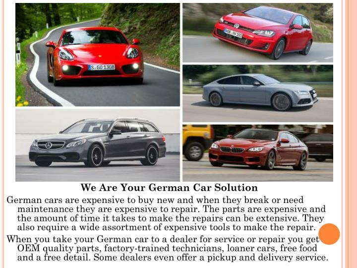 We Are Your German Car Solution