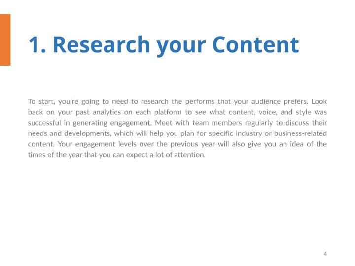 1. Research your Content