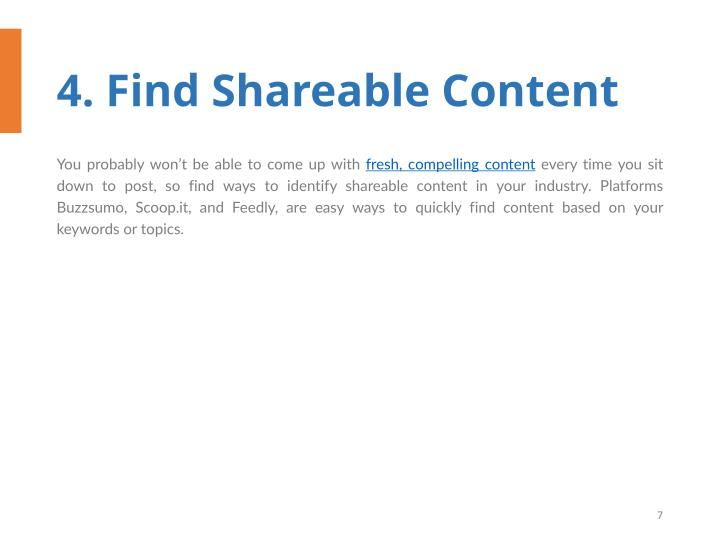 4. Find Shareable Content
