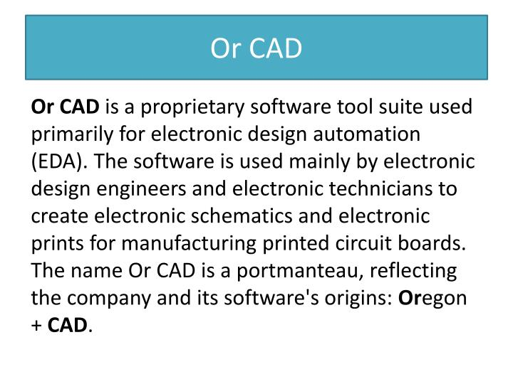 Or CAD