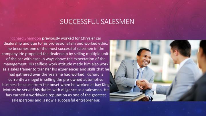 successful salesmen