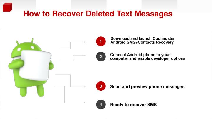 How to recover deleted text messages from android