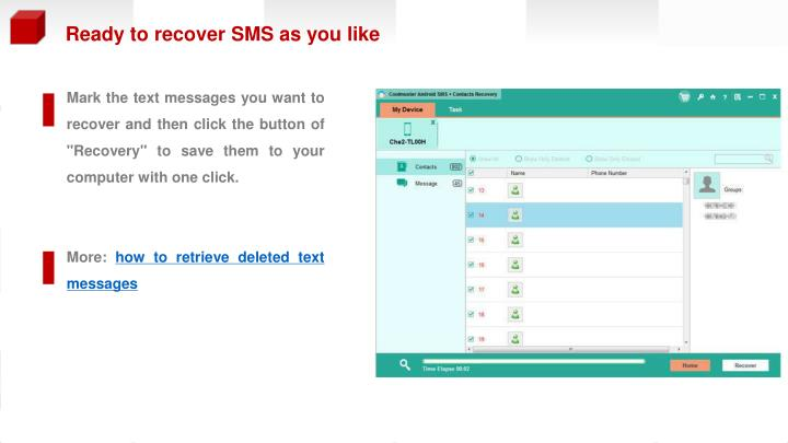 Ready to recover SMS as you like