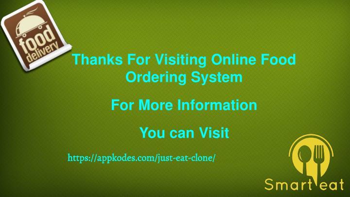 Food Ordering System Built For Your Restaurant