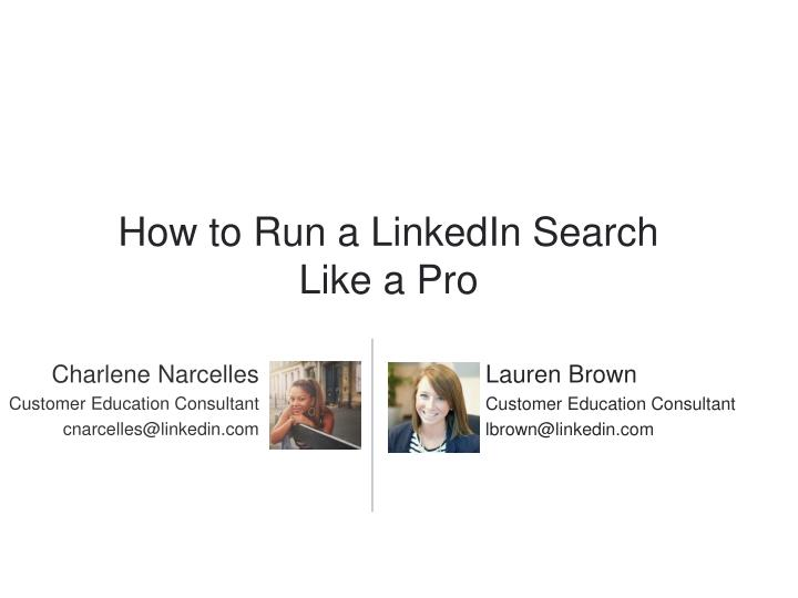 How to Run a LinkedIn Search