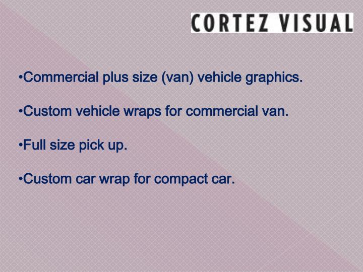 Commercial plus size (van) vehicle graphics.