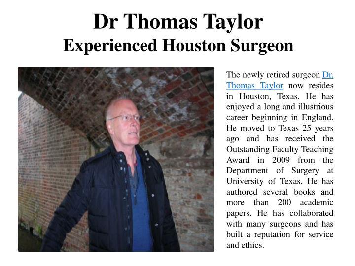 Dr Thomas Taylor