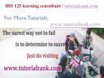 his 125 learning consultant tutorialrank com12
