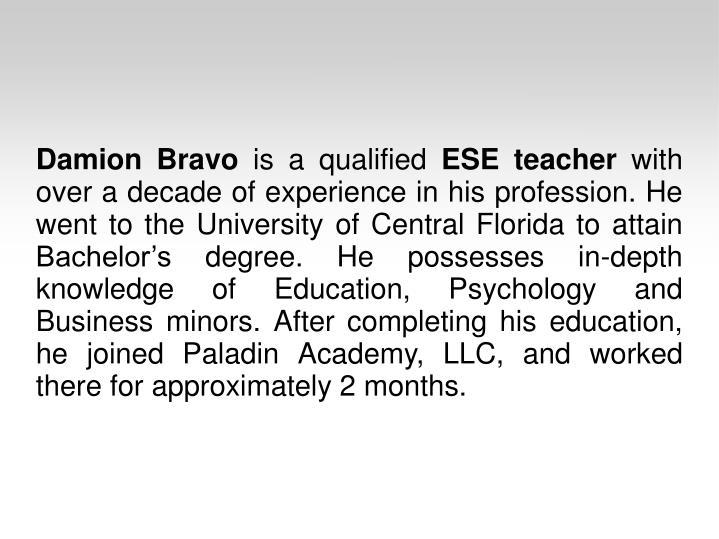 Damion Bravo