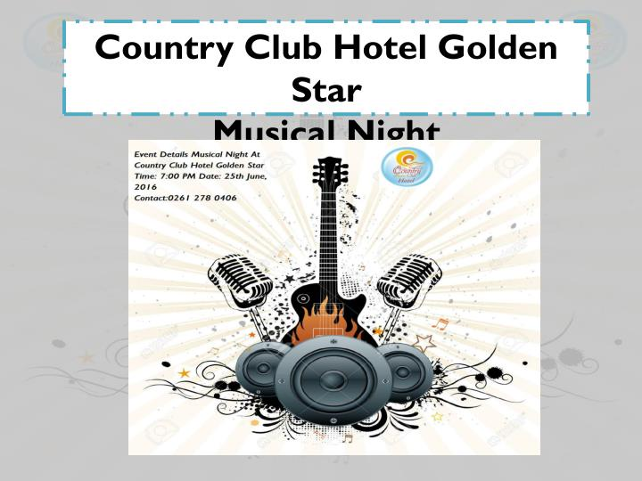 Country Club Hotel Golden Star