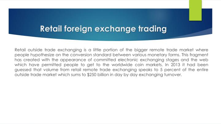 Retail foreign exchange