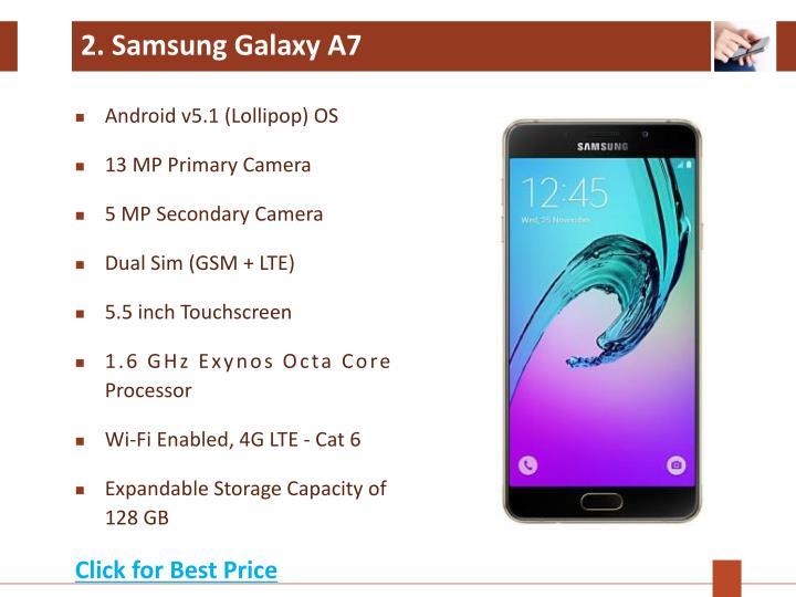 2. Samsung Galaxy A7