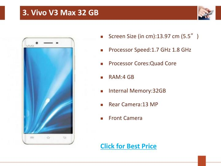 3. Vivo V3 Max 32 GB