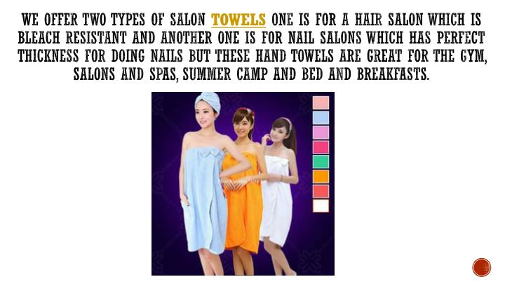 We offer two types of Salon