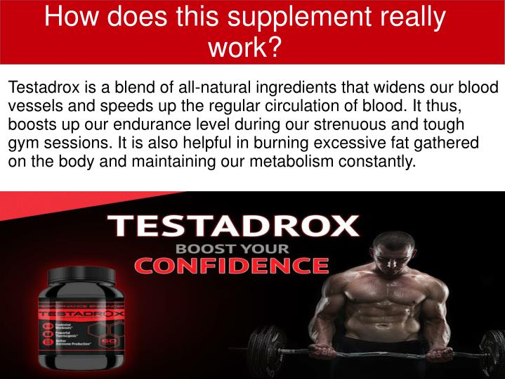 How does this supplement really work