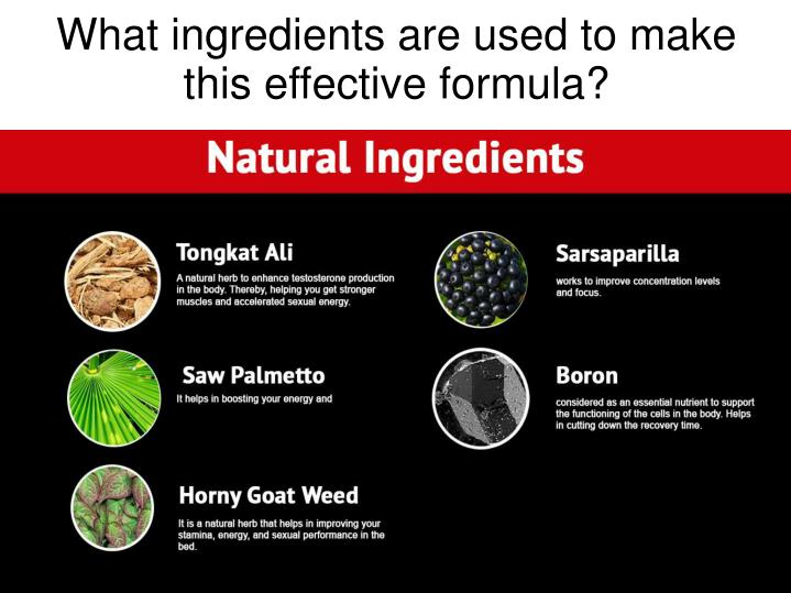 What ingredients are used to make this effective formula?