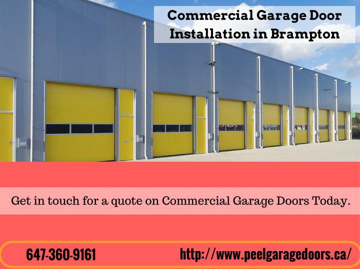 Commercial Garage Door Installation Repair Garage Door