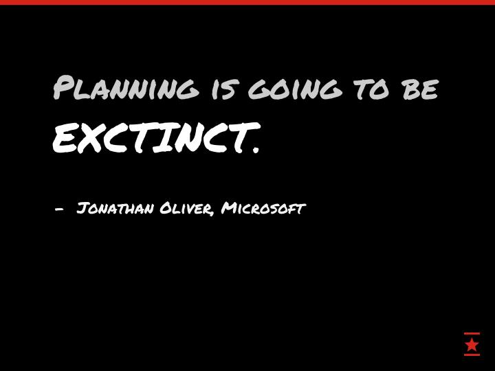 Planning is going to be