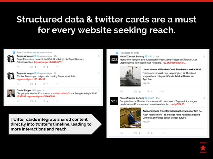 Structured data & twitter cards are a must