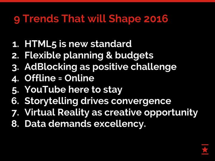 9 Trends That will Shape 2016