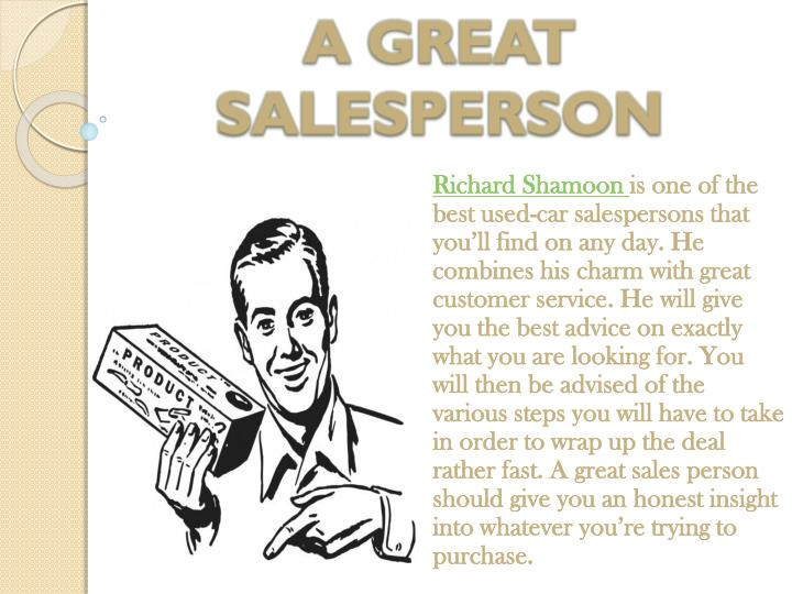 A great salesperson