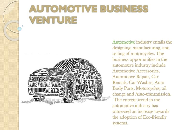 AUTOMOTIVE BUSINESS VENTURE