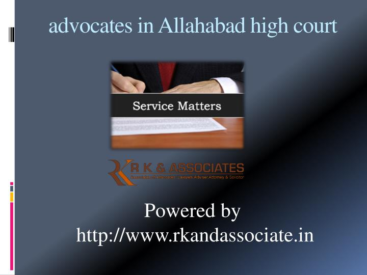 PPT - advocates in allahabad high court PowerPoint ...
