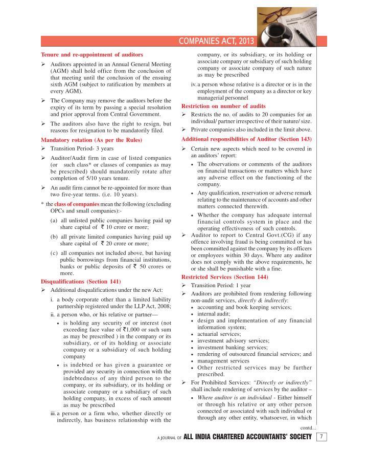 COM PANIES ACT, 2013