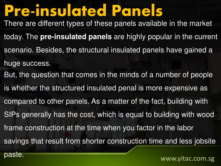 Pre-insulated Panels
