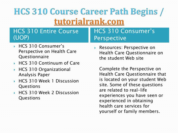 Hcs 310 course career path begins tutorialrank com1