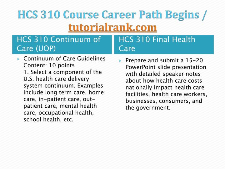 Hcs 310 course career path begins tutorialrank com2