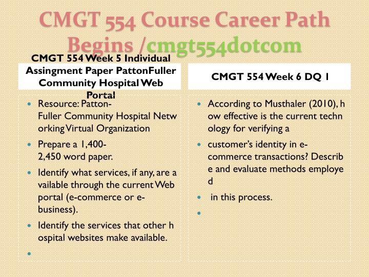 CMGT 554 Complete Course Material