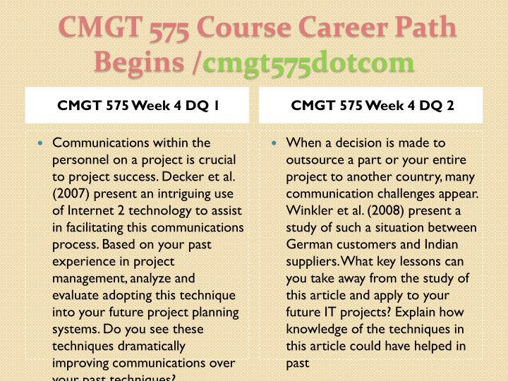 CMGT 575 UOP Course Tutorial / tutorialoutlet