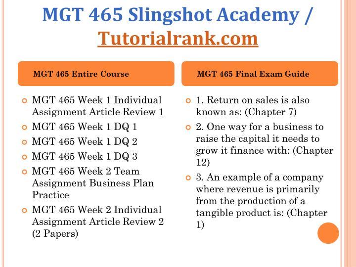 mgt 465 week 5 business plan