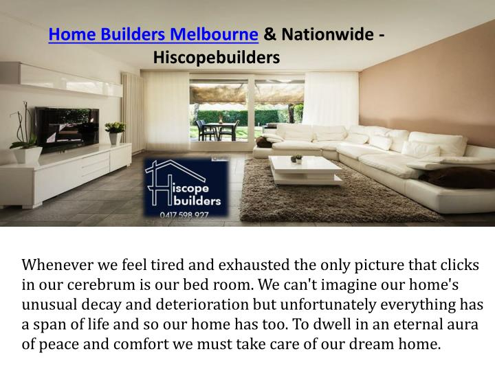 Home builders melbourne nationwide hiscopebuilders