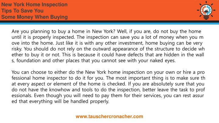 Ppt new york home inspection tips to save you some money for Home inspection tips