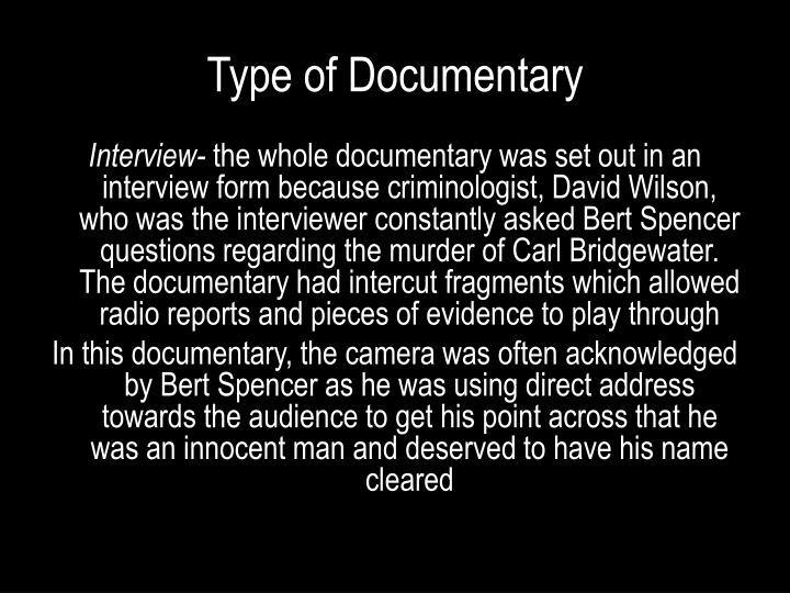 Type of Documentary