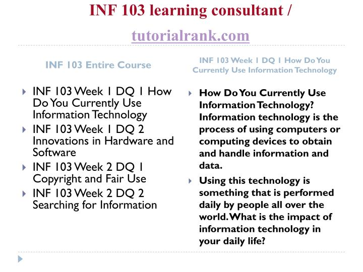 Inf 103 learning consultant tutorialrank com1