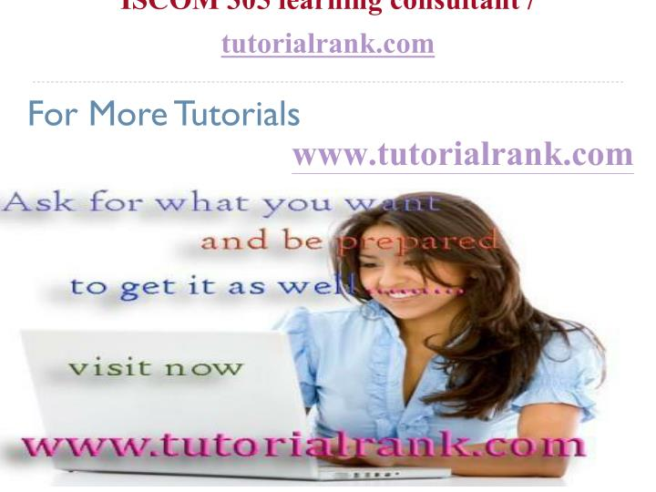 iscom 305 learning consultant tutorialrank com