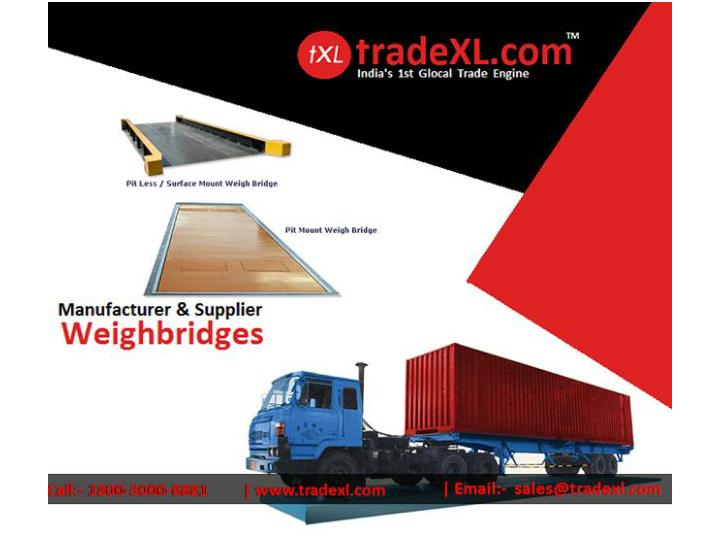 Weighbridges suppliers manufacturers exporters of weighbridge in india tradexl