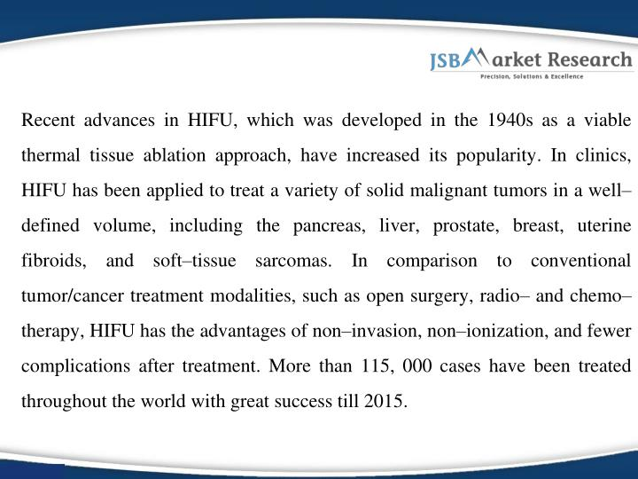 Recent advances in HIFU, which was developed in the 1940s as a viable thermal tissue ablation approa...