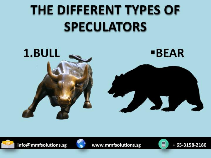 THE DIFFERENT TYPES OF SPECULATORS