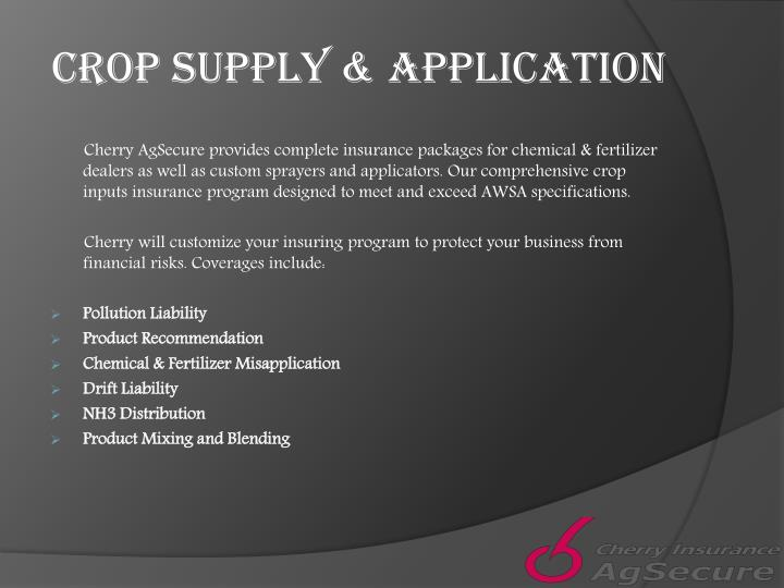 Crop supply application