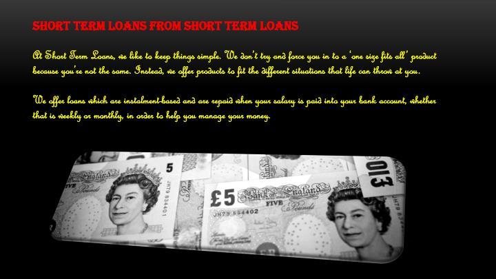 Short term loans from Short Term