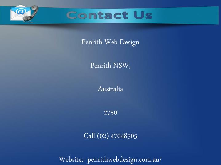 Penrith Web Design