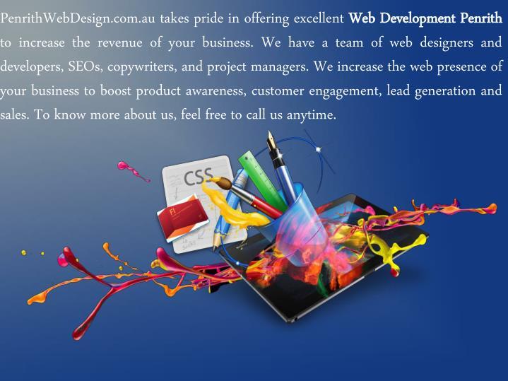 PenrithWebDesign.com.au takes pride in offering excellent